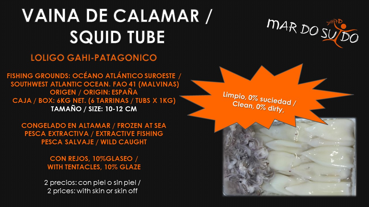 Oferta Destacada de Vaina de Calamar - Squid Tube Special Offer