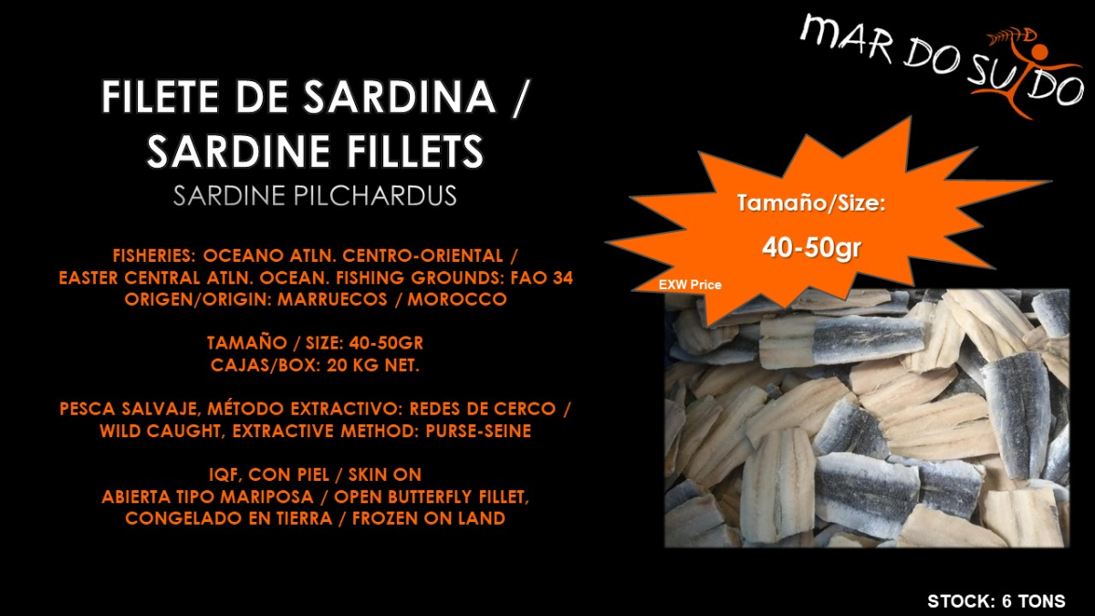 Oferta Destacada de Filete de Sardina - Sardine Fillets Special Offer