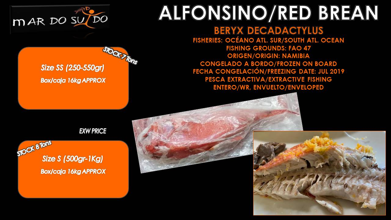 Oferta Detacada de Alfonsino / Red Brean Special Offer