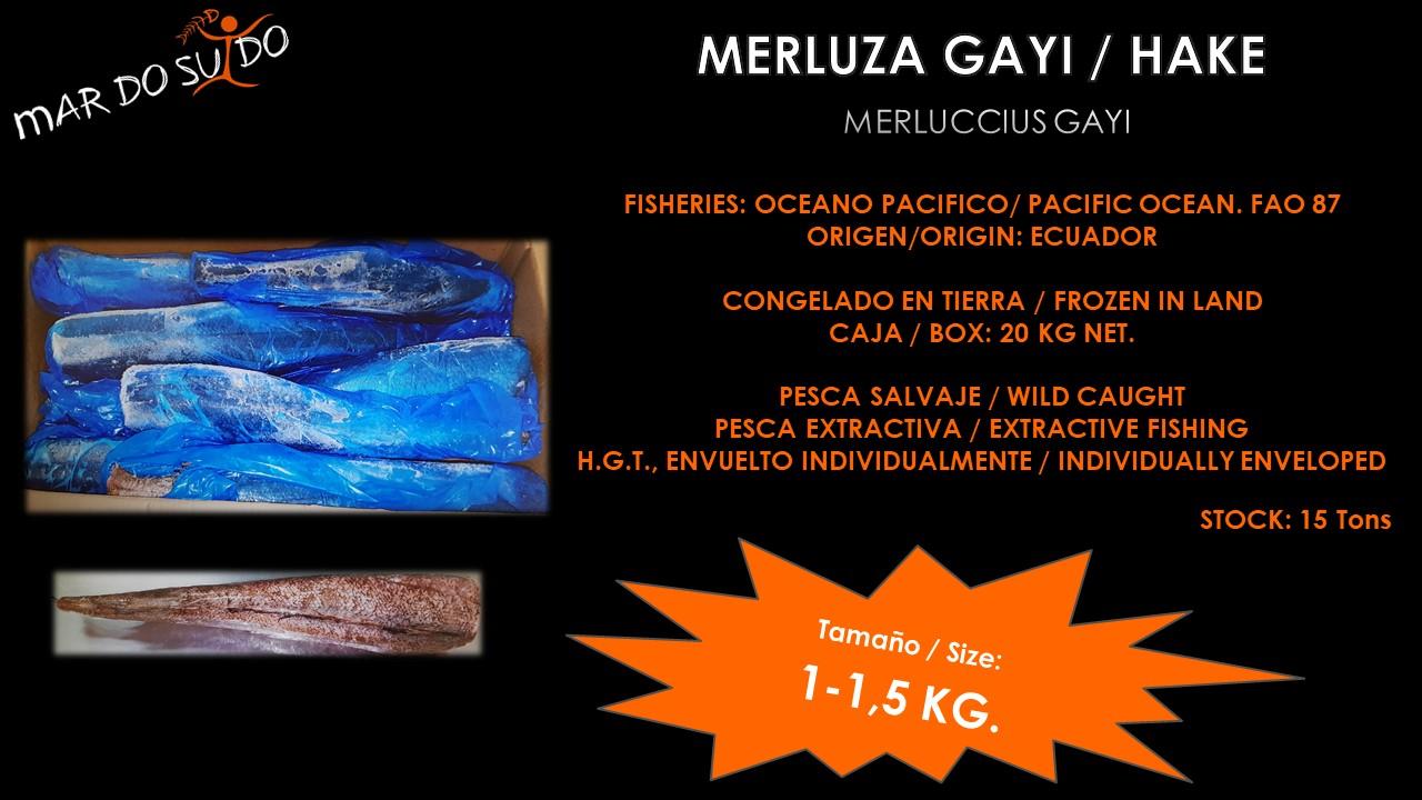 Oferta Destacada de Merluza Gayi - Hake Special Offer