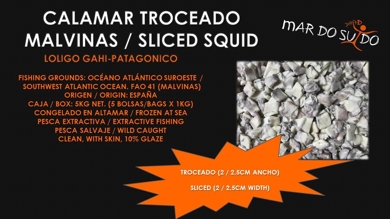 Calamar Troceado de Malvinas - Malvinas Sliced Squid